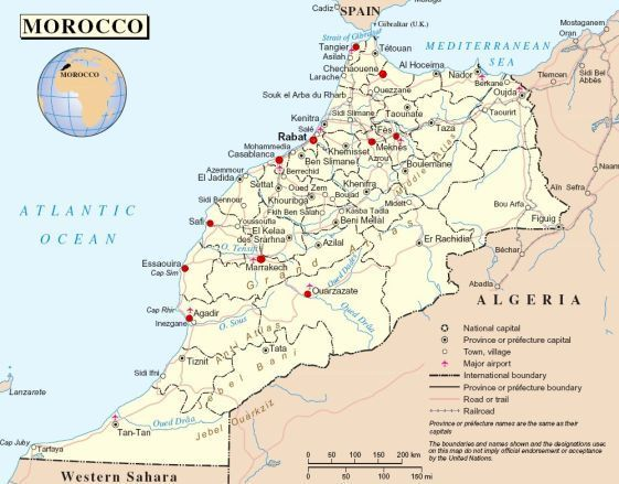 About Morocco Map of Morocco
